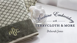 Machine Embroidery With Terrycloth and More